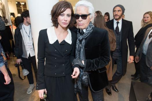 Anna Mouglalis & Karl Lagerfeld
