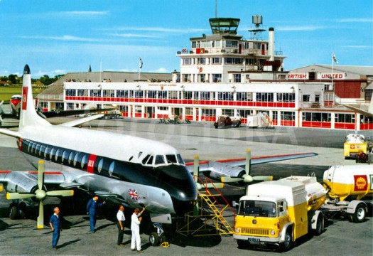 BEA Viscount at Jersey Airport 1960s
