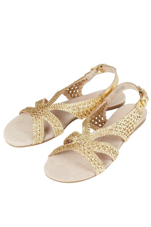Gold sandals_topshop