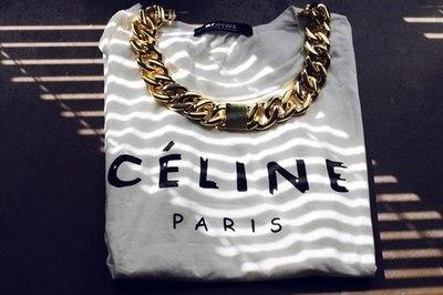 gold celine