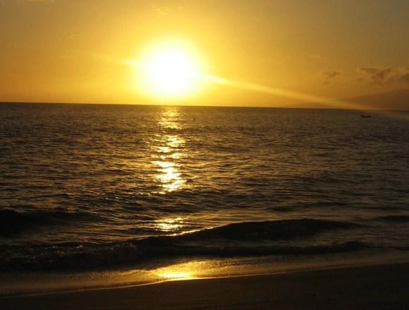 golden sunset - maui - hawaii - ocean - sunset sunday