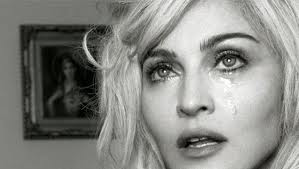 Madonna crying